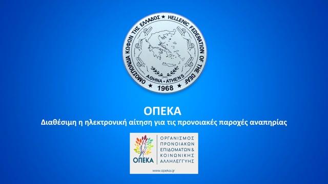 ΟΠΕΚΑ – Διαθέσιμη από τη Δευτέρα 28/01 η ηλεκτρονική αίτηση για τις προνοιακές παροχές αναπηρίας